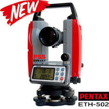 China Pentax Brand ETH502 Digital Theodolit High Precision With Red And Gray Color factory