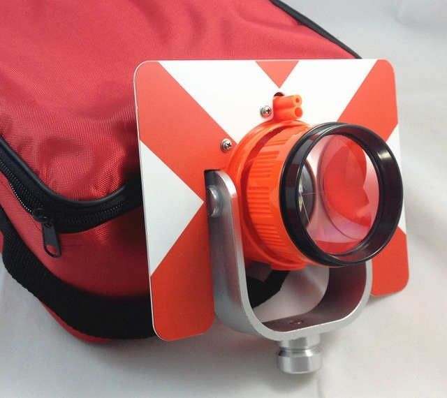 Total Station Accessories NEW RED Single Prism w/ Bag for total station supplier